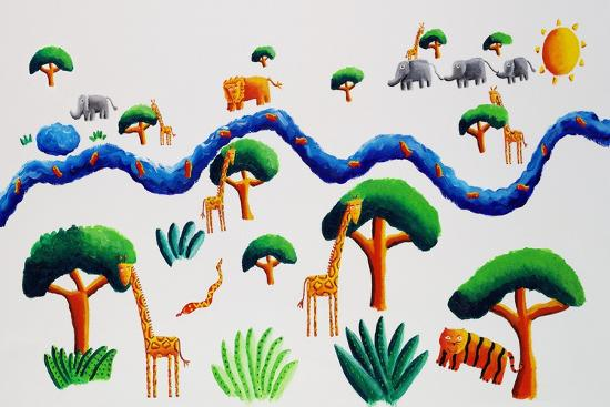Jungle River, 2002-Julie Nicholls-Premium Giclee Print