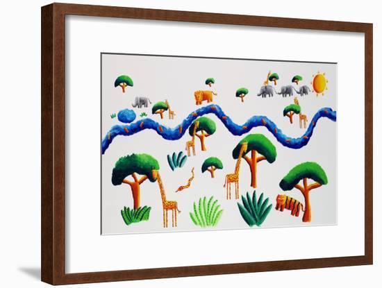Jungle River, 2002-Julie Nicholls-Framed Giclee Print
