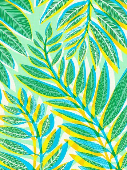 Jungle Vines-Modern Tropical-Art Print