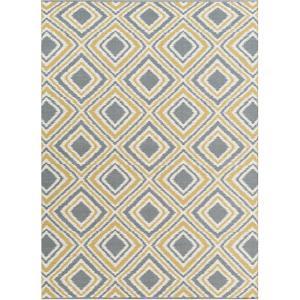Juniper Area Rug - Charcoal/Gold 5' x 8'