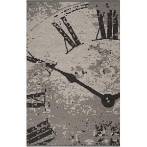 Juniper Clock Area Rug - Gray/Black 5' x 8'
