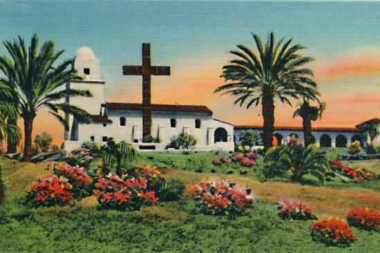 'Junipero Serra Museum, Old Town. San Diego, California', c1941-Unknown-Giclee Print