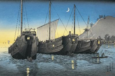Junk Ships in the Sea--Giclee Print