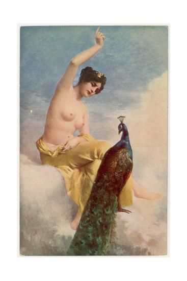 Juno and the Peacock-Jehanne Paris-Giclee Print