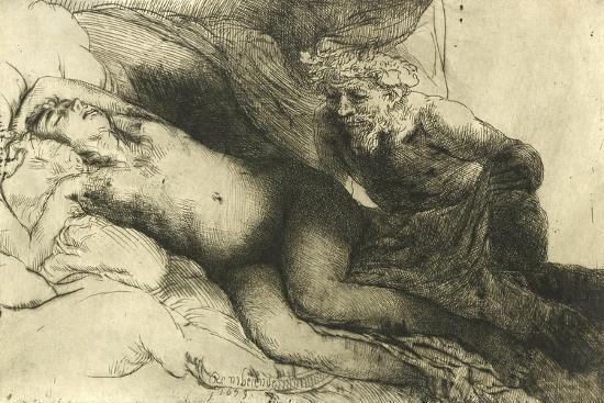 Jupiter and Antiope, C.1659-Rembrandt van Rijn-Giclee Print