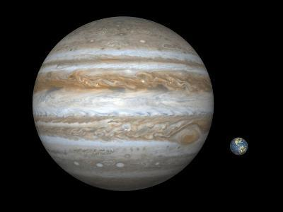 Jupiter And Earth Compared, Artwork-Walter Myers-Photographic Print