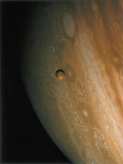 Jupiter and Io, One of its Moons, 1979--Giclee Print