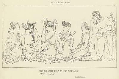 Jupiter and the Muses-John Flaxman-Giclee Print