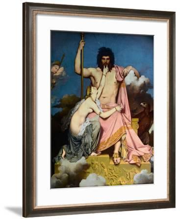 Jupiter and Thetis-Jean-Auguste-Dominique Ingres-Framed Giclee Print