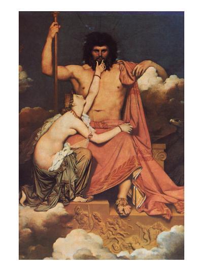 Jupiter and Thetis-Jean-Auguste-Dominique Ingres-Art Print