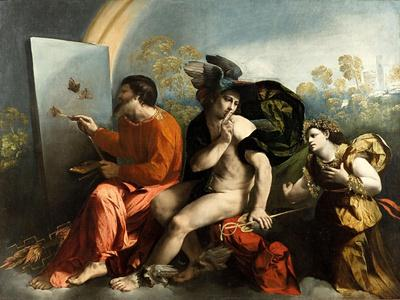 Jupiter, Mercury and the Virtue (Jupiter Painting Butterflie)-Dosso Dossi-Giclee Print