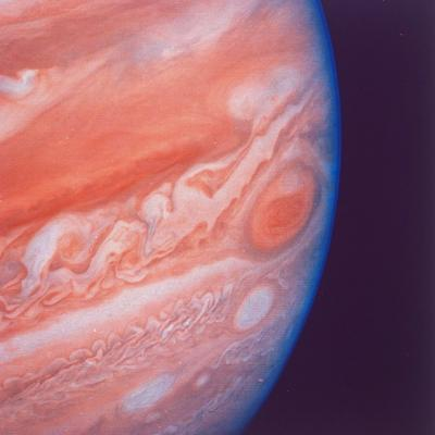 Jupiter's Great Red Spot During Late Jovian Afternoon, Photographed by Voyager 2 Spacecraft--Photographic Print