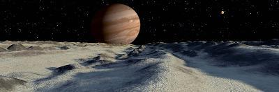 Jupiter's Large Moon, Europa, is Covered by a Thick Crust of Ice-Stocktrek Images-Photographic Print