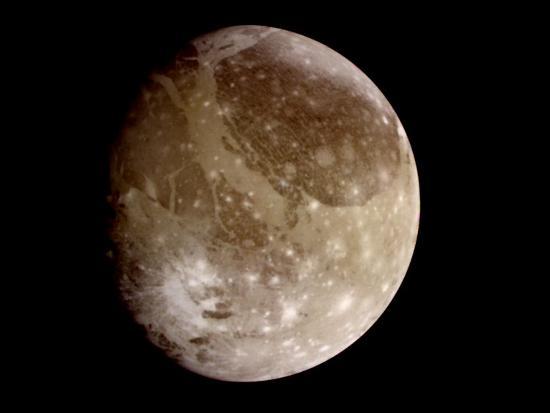 Jupiter's Moon Ganymede--Photographic Print