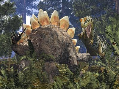 Jurassic Dinosaurs, Artwork-Walter Myers-Photographic Print
