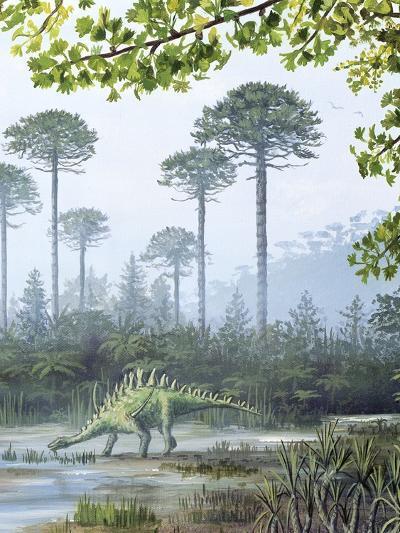 Jurassic Life, Artwork-Richard Bizley-Photographic Print