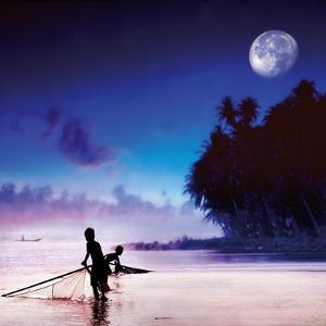 Children Fishing by Jurek Nems