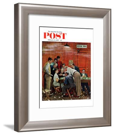 """""""Jury"""" or """"Holdout"""" Saturday Evening Post Cover, February 14,1959-Norman Rockwell-Framed Giclee Print"""