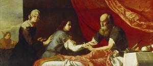 Isaac und Jakob by Jusepe de Ribera