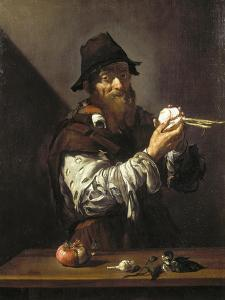 Portrait of an Old Man with an Onion by Jusepe de Ribera