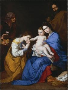 The Holy Family with Saints Anne and Catherine of Alexandria, 1648 by Jusepe de Ribera