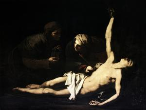 The Saints Sebastian, Irene and Lucia, 1628 by Jusepe de Ribera
