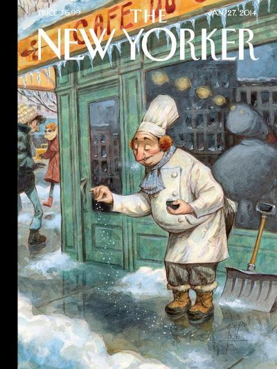 Just a Pinch - The New Yorker Cover, January 27, 2014-Peter de S?ve-Premium Giclee Print