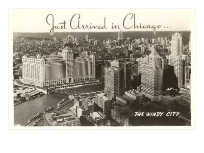 Just Arrived in Chicago Downtown View--Art Print
