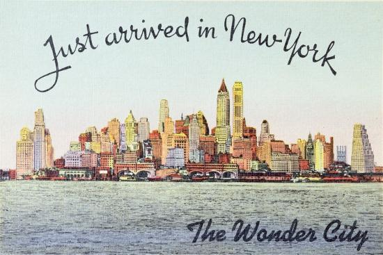 Just Arrived in New York' American Postcard--Giclee Print