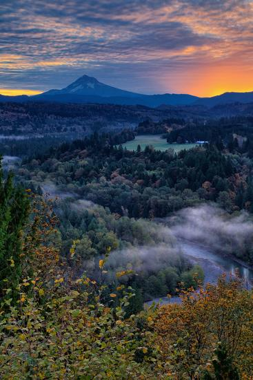 Just Before Sunrise from Jonsrud View, Sandy Oregon, Portland-Vincent James-Photographic Print