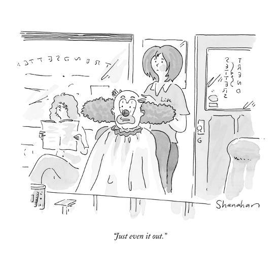 """""""Just even it out."""" - New Yorker Cartoon-Danny Shanahan-Premium Giclee Print"""