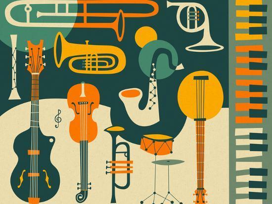 Just Jazz-Jazzberry Blue-Premium Giclee Print