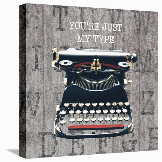 Just my Type III Stretched Canvas Print by The Vintage Collection | Art com