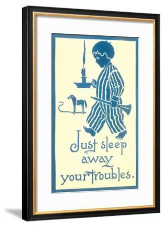 Just Sleep Away Your Troubles--Framed Art Print