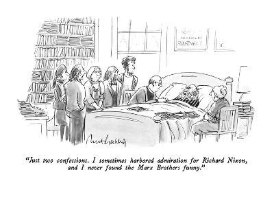 """Just two confessions.  I sometimes harbored admiration for Richard Nixon,?"" - New Yorker Cartoon-Mort Gerberg-Premium Giclee Print"