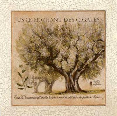 Juste le Chant des Cigales-Pascal Cessou-Art Print