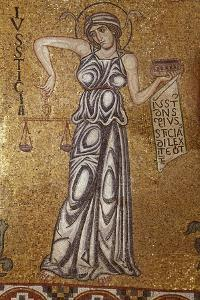 Justice (Detail of Interior Mosaics in the St. Mark's Basilic), 12th Century