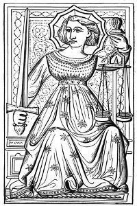 Justice, Tarot Card, 14th Century
