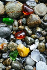 Glass Beach Near Fort Bragg California by Justin Bailie