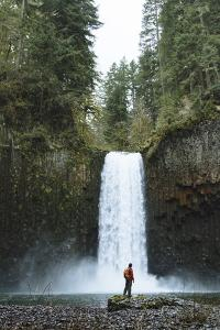 Hiking At Abiqua Falls. Willamette Valley, Oregon by Justin Bailie