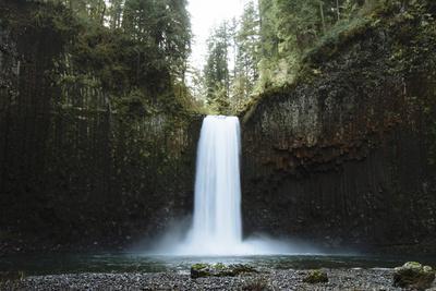 Hiking At Abiqua Falls. Willamette Valley, Oregon