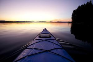 Kayaking Jackson Lake In Grand Teton National Park, WY by Justin Bailie