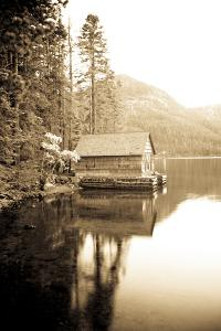 Scenic Image of Boathouse on Fallen Leaf Lake, California by Justin Bailie