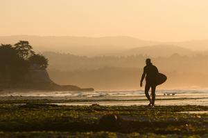 Surfer In Santa Cruz, CA by Justin Bailie