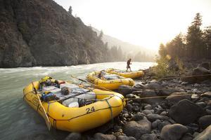 Whitewater Rafting on the Chilko River. British Columbia, Canada by Justin Bailie