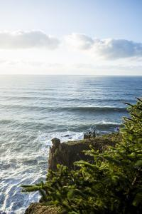 Young Women Hiking Along The Oregon Coast Trail. Oswald West State Park, OR by Justin Bailie