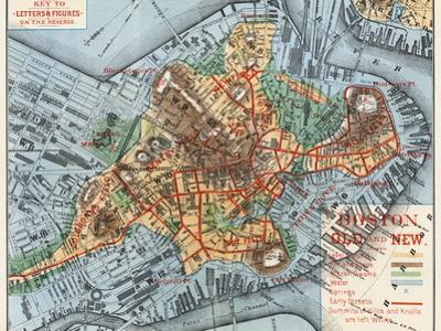 Map: Boston, c1880 by Justin Winsor