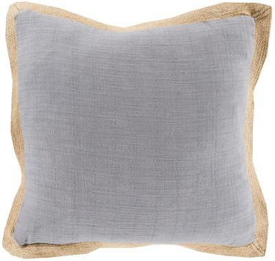 Jute Flange Pillow Cover Only - Grey