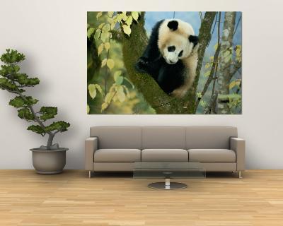 Juvenile Giant Panda-Lu Zhi-Wall Mural