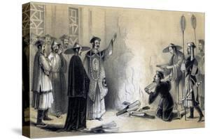 Burning of the Chinese Books, 3rd Century BC by JW Giles